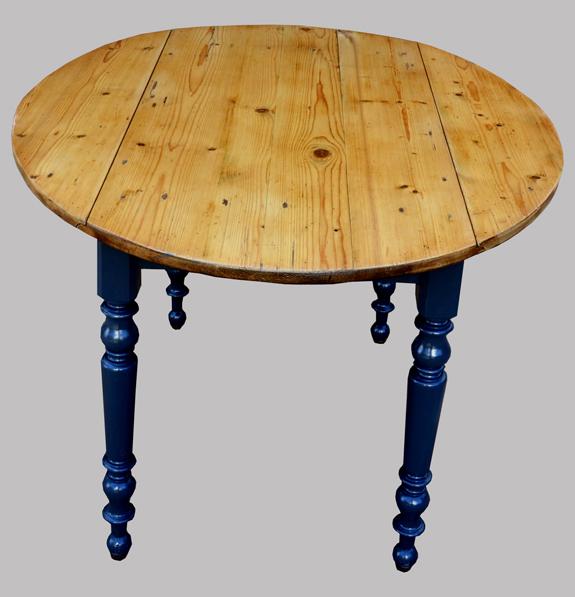 Table ronde de cuisine avec 2 volets pliables - Tables de cuisine rondes ...